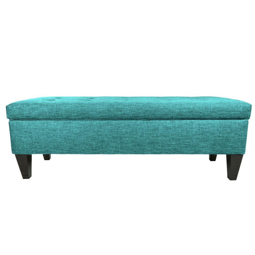MJL Furniture Designs Brooke B-Klargo Zenith Teal Button Tufted Upholstered