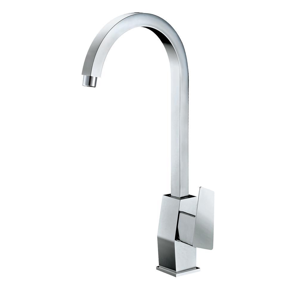 AB3470-PC Single Hole Single-Handle Bathroom Faucet in Polished Chrome