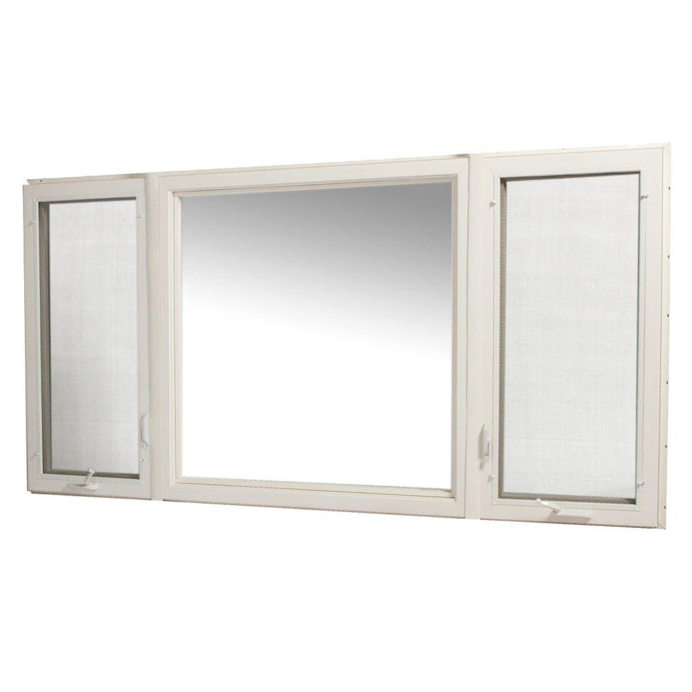 Tafco windows 95 in x 48 in vinyl casement window with Casement window reviews