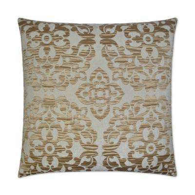 Monte Gold Feather Down 24 in. x 24 in. Standard Decorative Throw Pillow