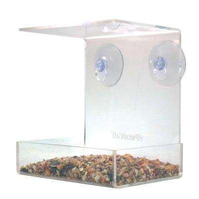 Acrylic Clear View Window Bird Feeder
