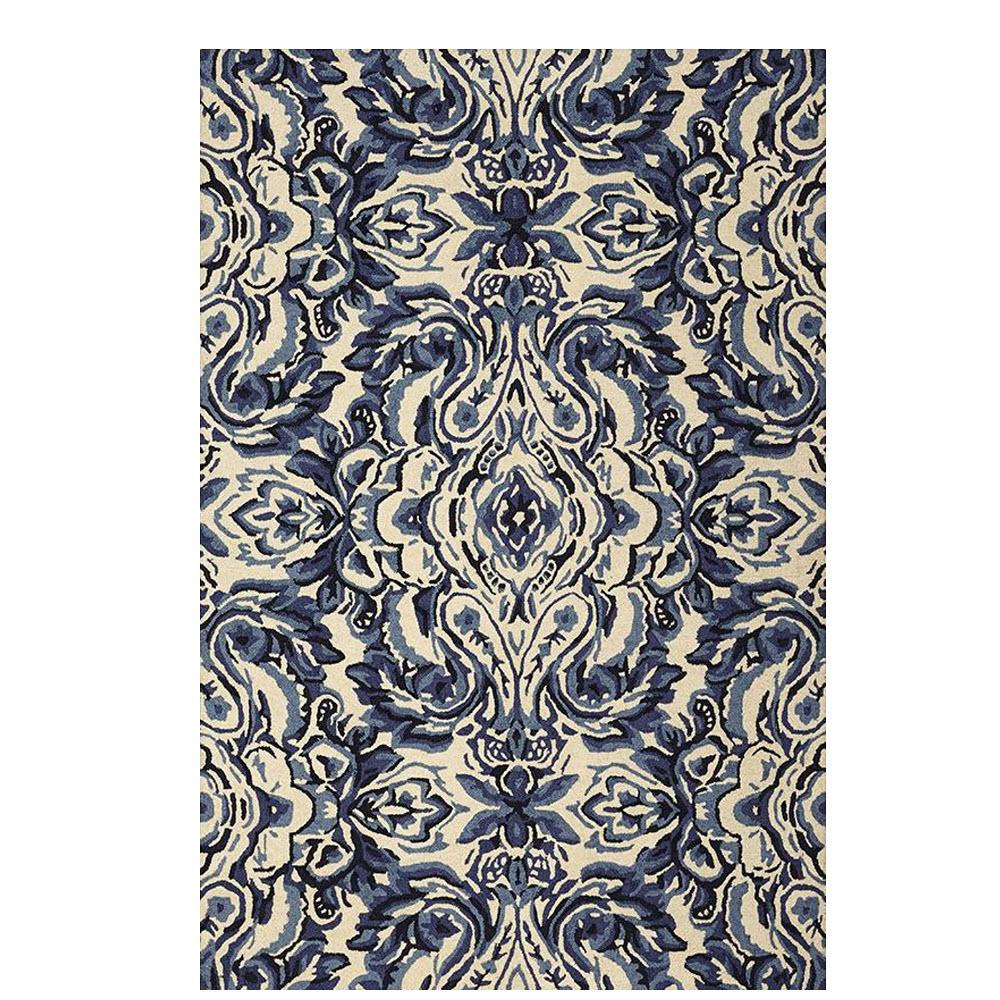 Home decorators collection gramercy white blue 5 ft 3 in for Home decorators rugs blue