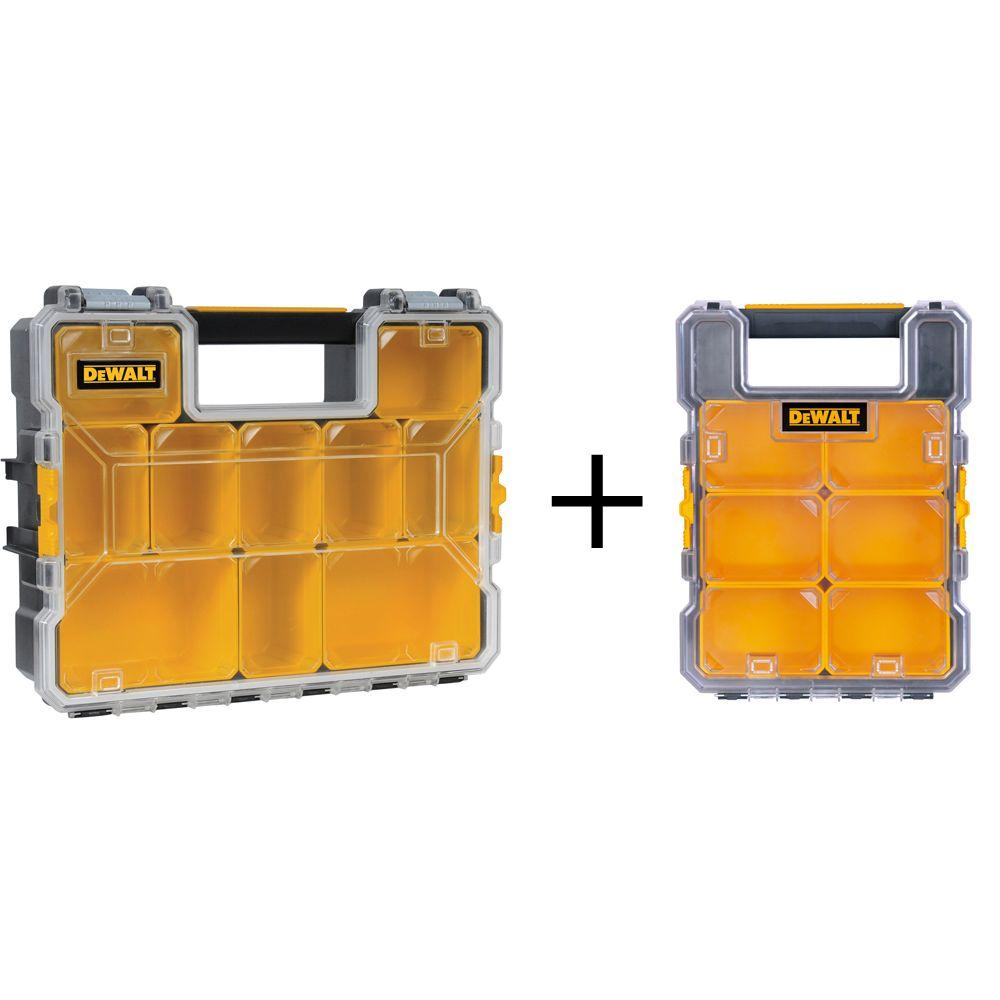Dewalt 10 Compartment Deep Pro And 8 Compartment Mid Size