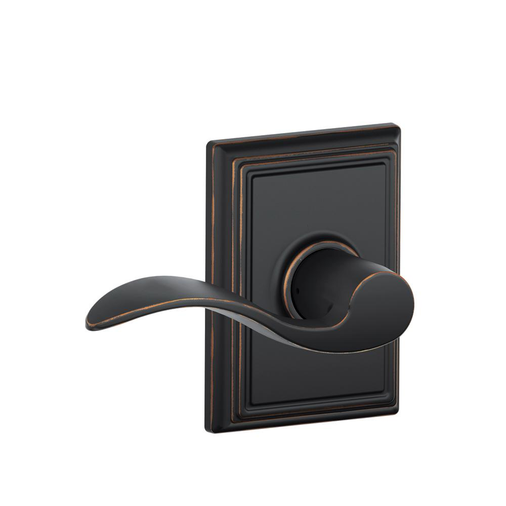 Schlage Addison Collection Accent Aged Bronze Hall And