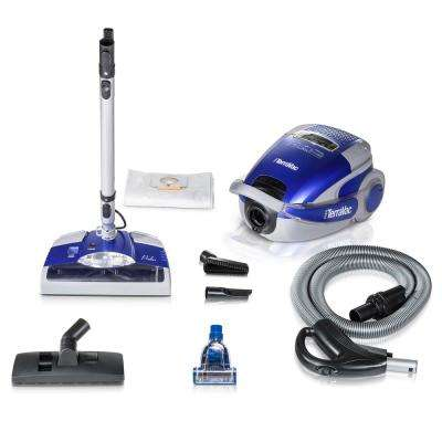 Blue TerraVac 5 Speed Quiet Vacuum Cleaner with Sealed HEPA Filter and Upgraded Blue Head