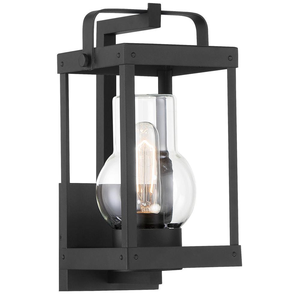 Sullivans Landing 1-Light Sand Coal Outdoor Wall Lantern Light