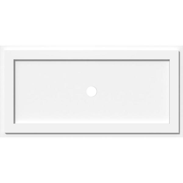 Ekena Millwork 34 In W X 17 In H X 3 In Id X 1 In P Rectangle Architectural Grade Pvc Contemporary Ceiling Medallion 192770550035 The Home Depot