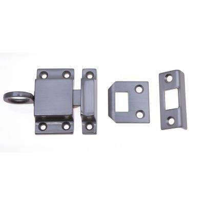 Solid Brass Transom Catch in Satin Nickel