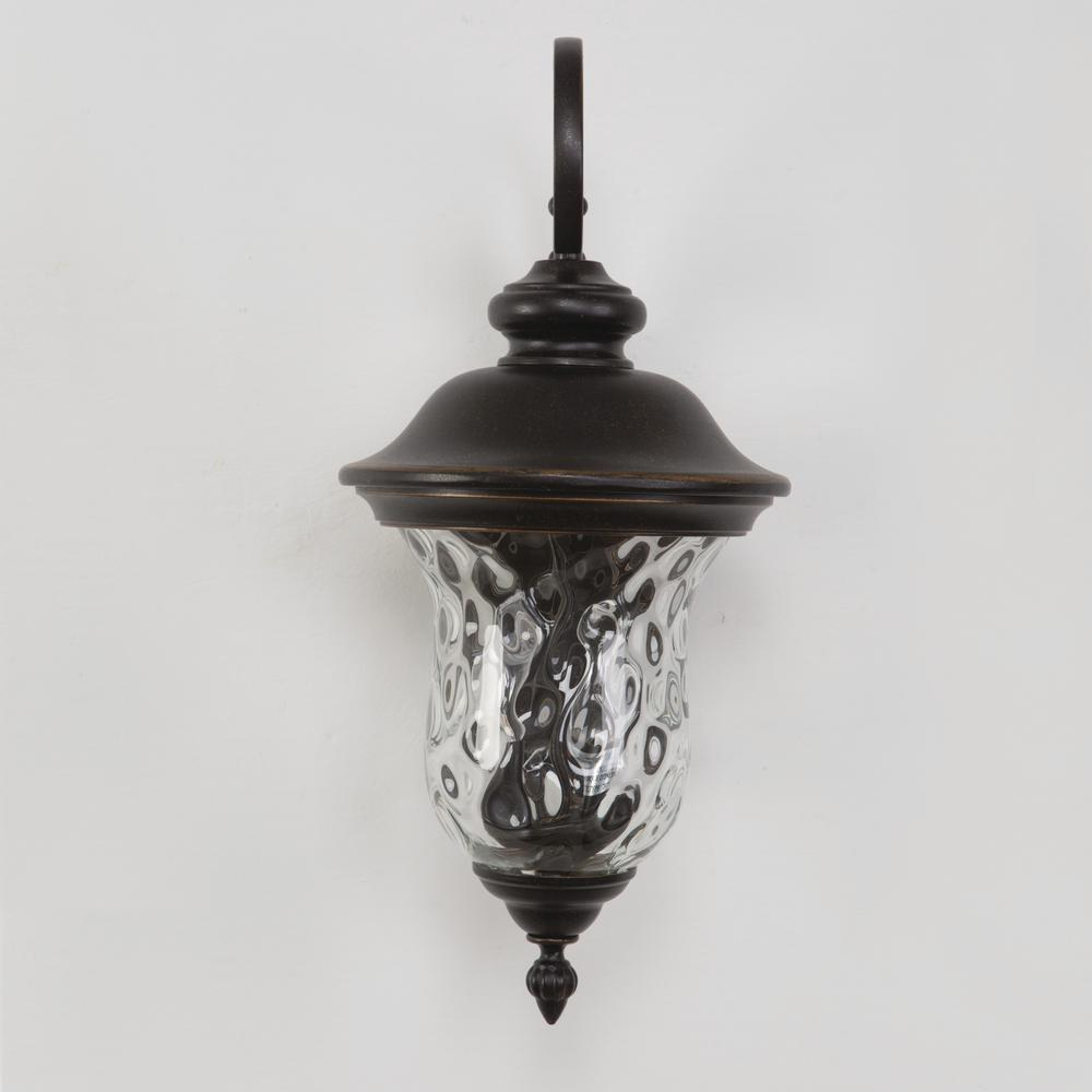 Yosemite Home Decor Sugar Pine Collection 2 Light Oil Rubbed Bronze Outdoor Wall Mount