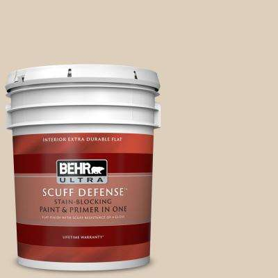 5 gal. #MQ3 - 11 Dainty Lace Extra Durable Flat Interior Paint and Primer in One