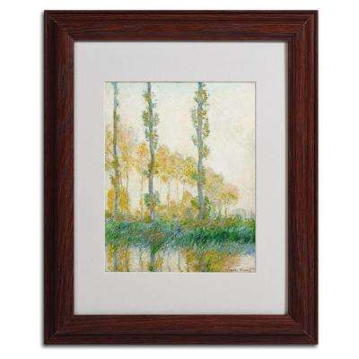 11 in. x 14 in. The Three Trees Autumn Matted Brown Framed Wall Art