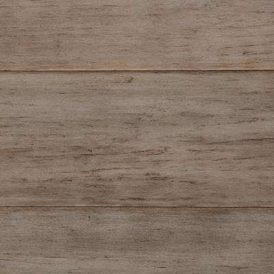 Take Home Sample - Hand Scraped Strand Woven Earl Grey Solid Bamboo Flooring - 5 in. x 7 in.