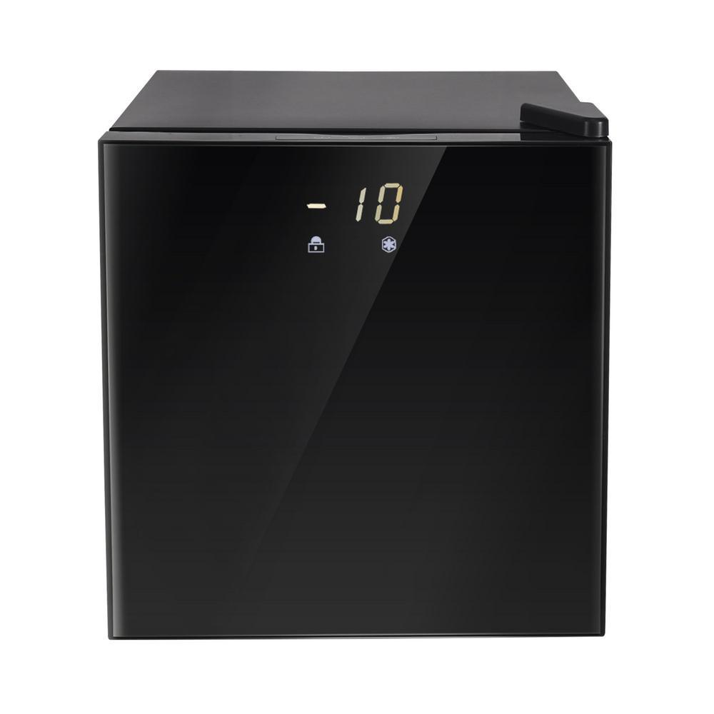 1.1 cu. ft. Upright Freezer with Reversible Adjustable Door in Stainless Steel