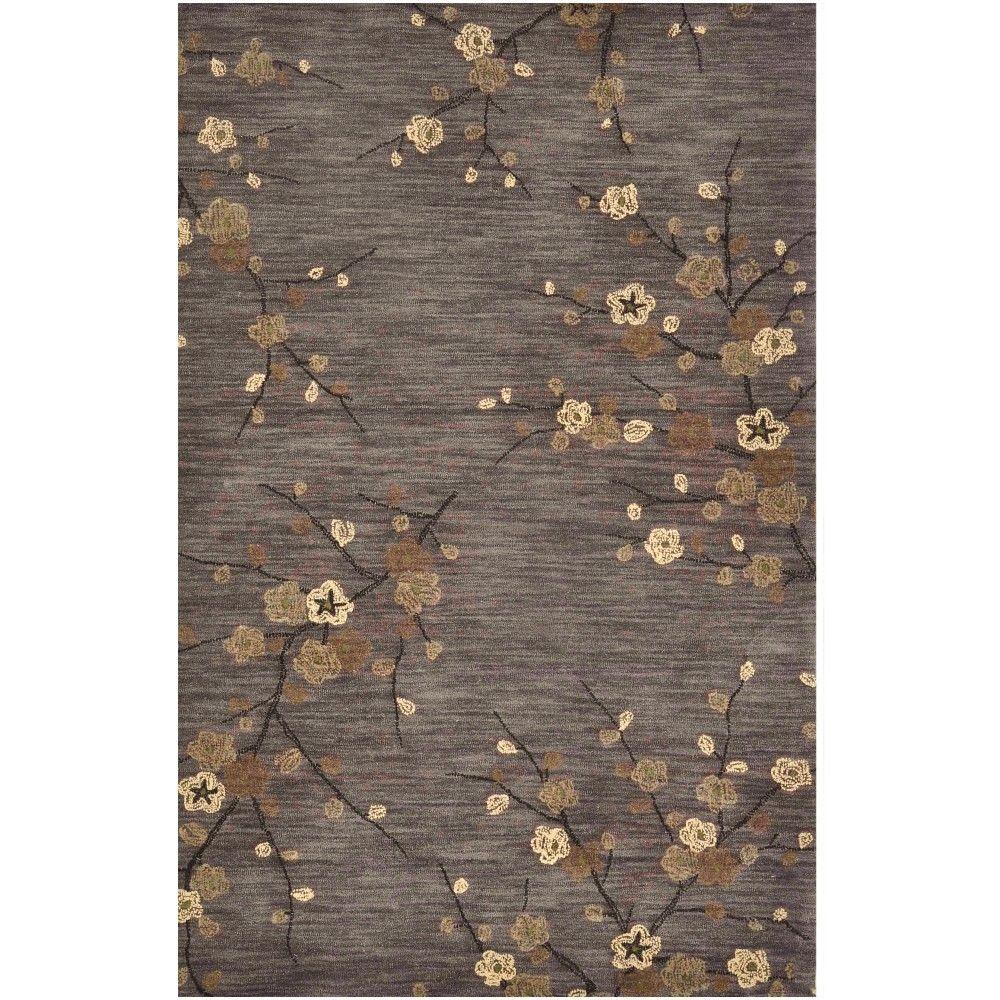 Home Decorators Collection Kimono Grey 5 ft. 3 in. x 8 ft. 3 in. Area Rug