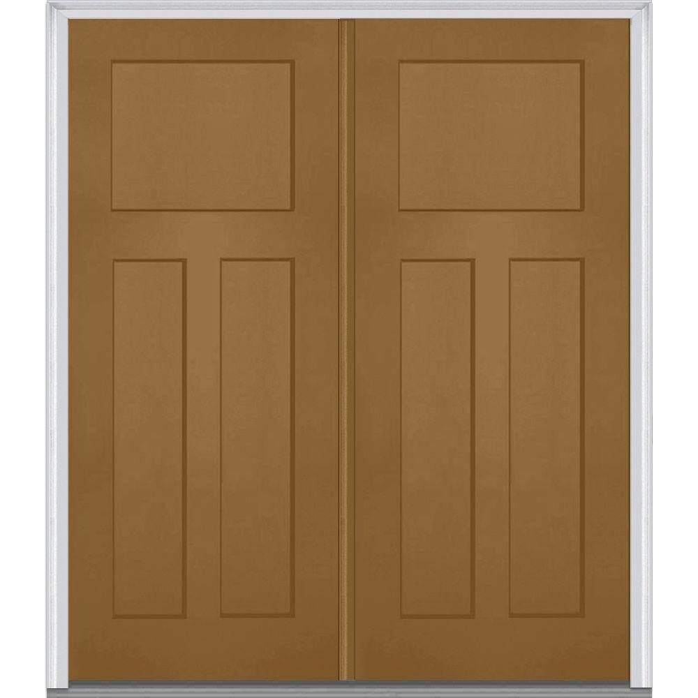 shaker front doorMMI Door 72 in x 80 in RightHand Inswing Craftsman 3Panel