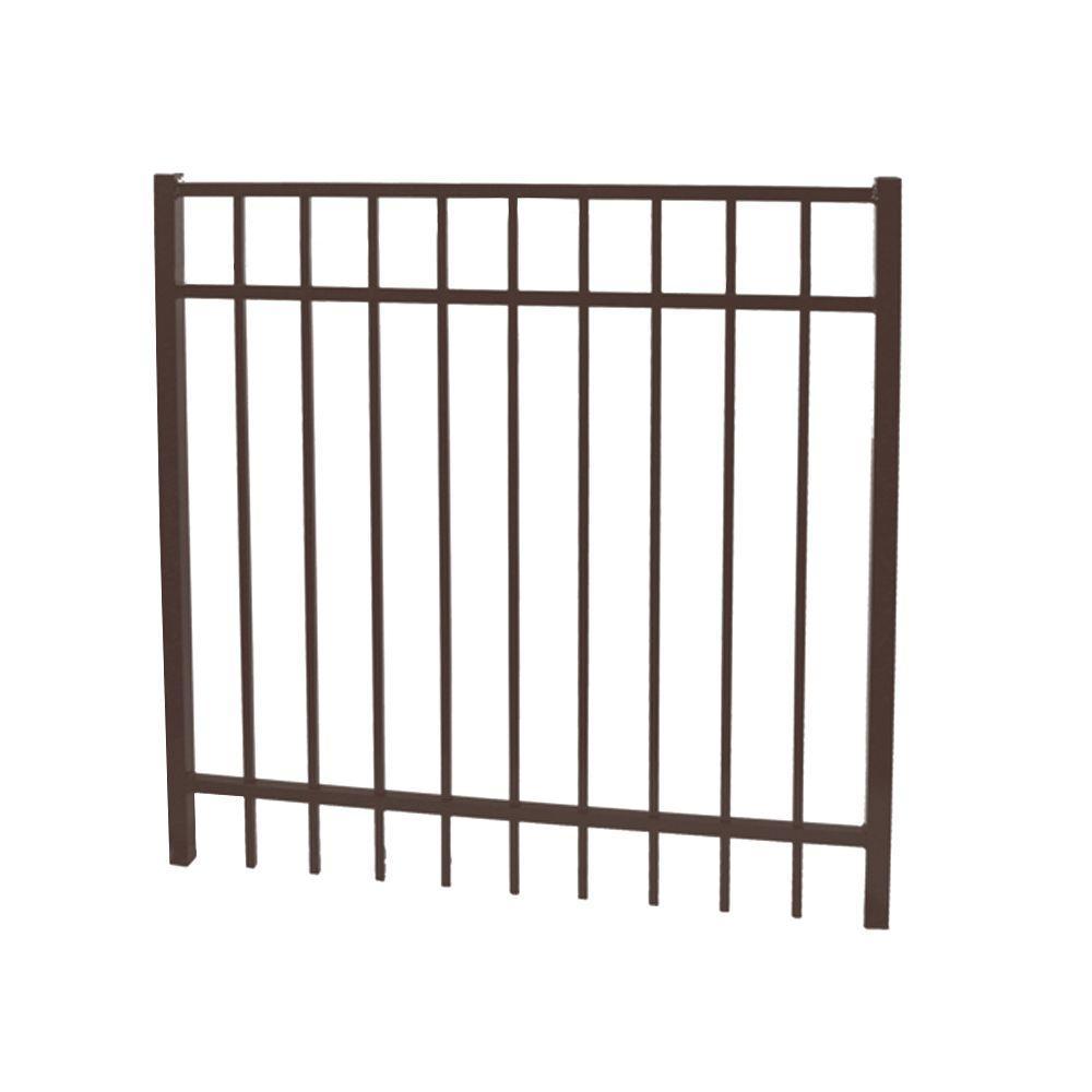 Vinnings 5 ft. W x 5 ft. H Bronze Aluminum Fence Gate