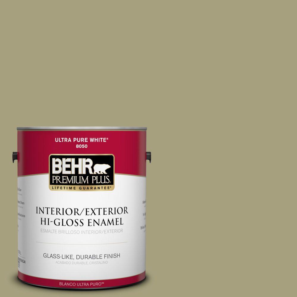 BEHR Premium Plus 1-gal. #S350-4 Sustainable Hi-Gloss Enamel Interior/Exterior Paint