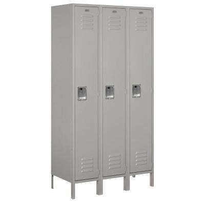 51000 Series 45 in. W x 78 in. H x 18 in. D Single Tier Extra Wide Metal Locker Unassembled in Gray