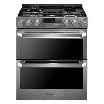 7.3 cu. ft. Slide-In Double Oven Smart Dual-Fuel Range with ProBake Convection and WiFi Enabled in Stainless Steel