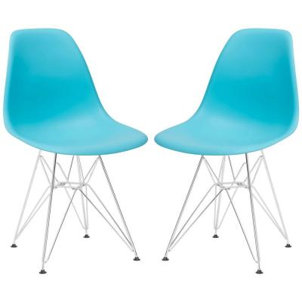 Padget Aqua Side Chair (Set of 2)