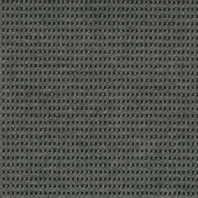 First Impressions Tattersall Smoke with Black Texture 24 in. x 24 in. Carpet Tile (15 Tiles/Case)
