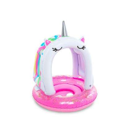 Vinyl Inflatable Kid's Lil Unicorn Float with Removable Canopy