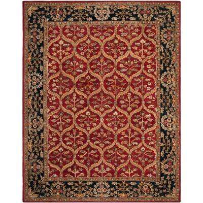 Anatolia Red/Navy 9 ft. x 12 ft. Area Rug