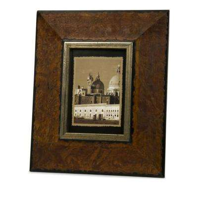 Lenor 1-Opening 5 in. x 7 in. Brown Picture Frame