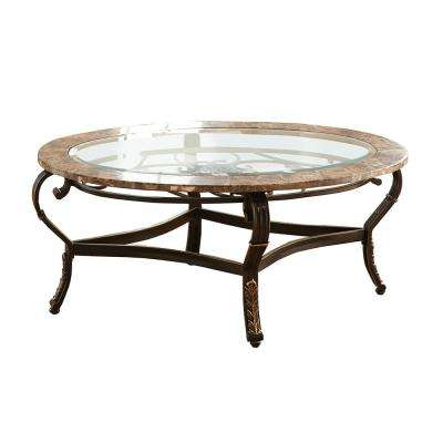Gallinari Spanish Brown Marble Cocktail Table