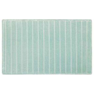 17 in. x 24 in. Velvet Charcoal-Infused Memory Foam Bath Mat in Aqua
