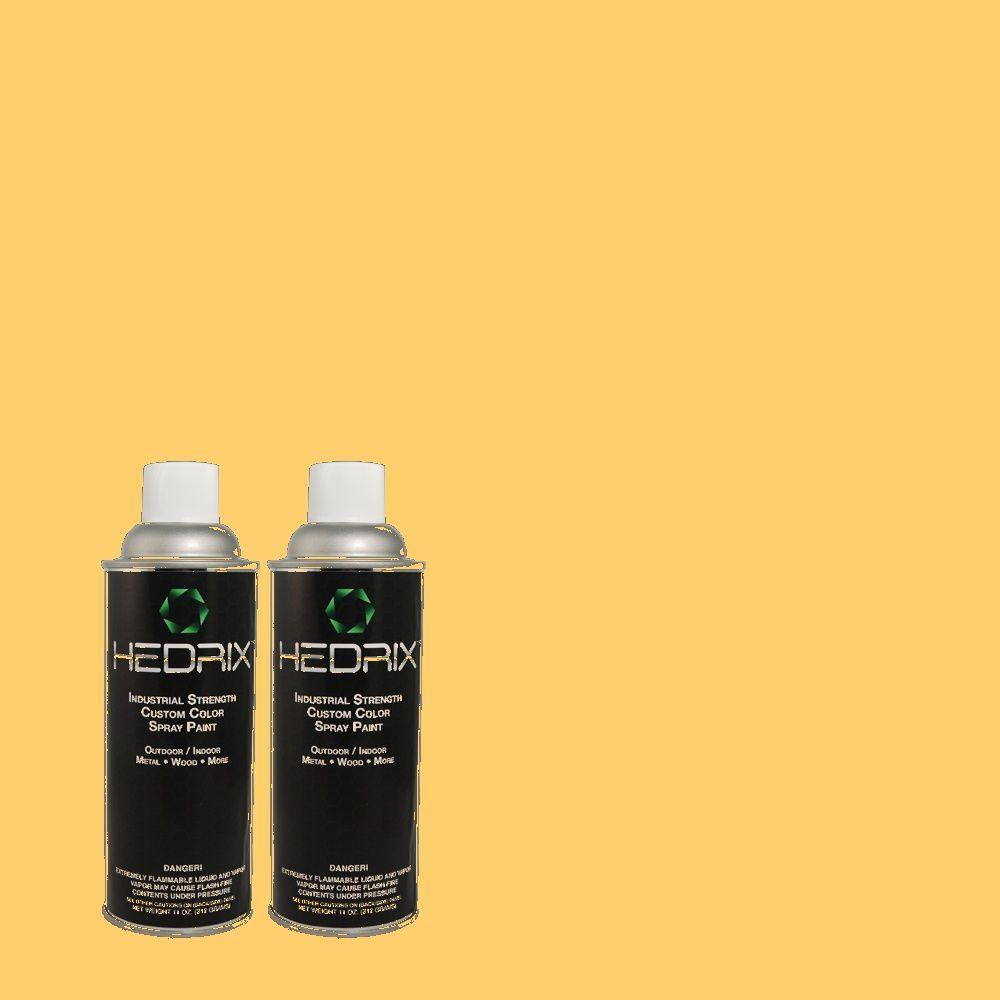 Hedrix 11 oz. Match of 310B-5 Spiced Butternut Flat Custom Spray Paint (2-Pack)