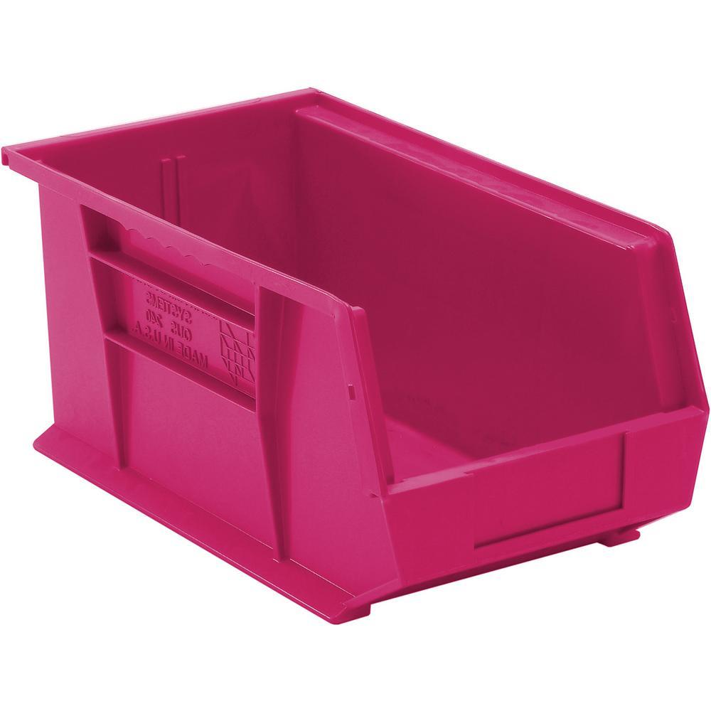 Ultra Series Stack and Hang 7.2 Gal. Storage Bin in Pink (12-Pack)
