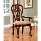Elana Brown Cherry Traditional Style Arm Chair