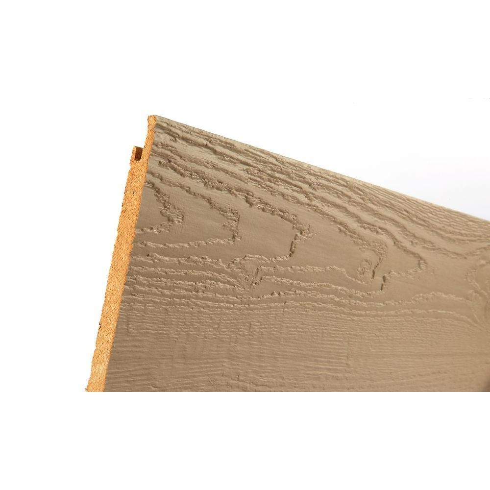TruWood Sure Lock Primed Hardboard Lap Siding (Nominal: 1/2 in  x 8 in  x  16 ft