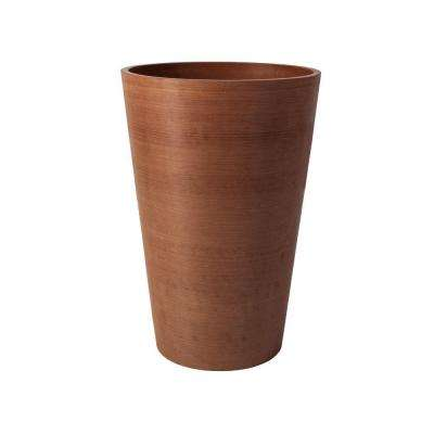 Valencia 16 in. Round Textured Terra Cotta Polystone Planter