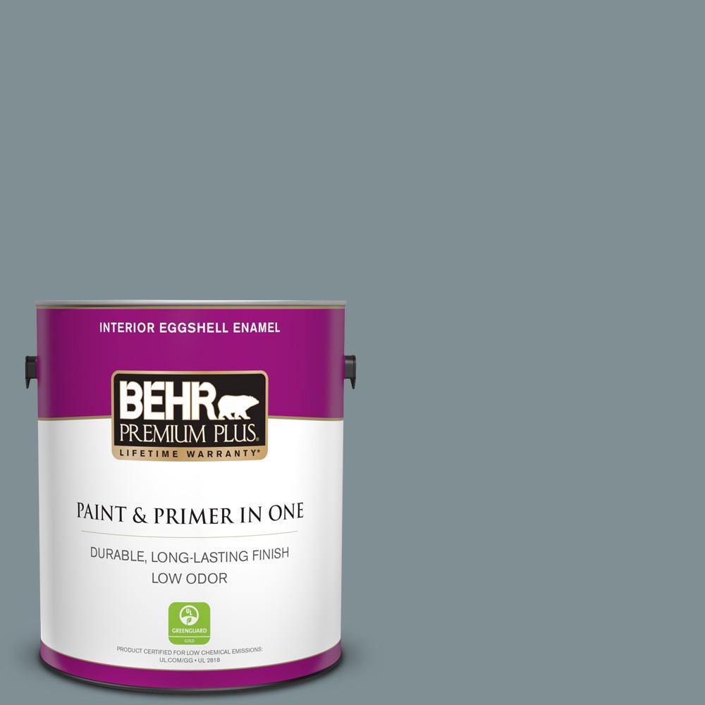 Behr Premium Plus 1 Gal 740f 4 Dark Storm Cloud Eggshell Enamel Low