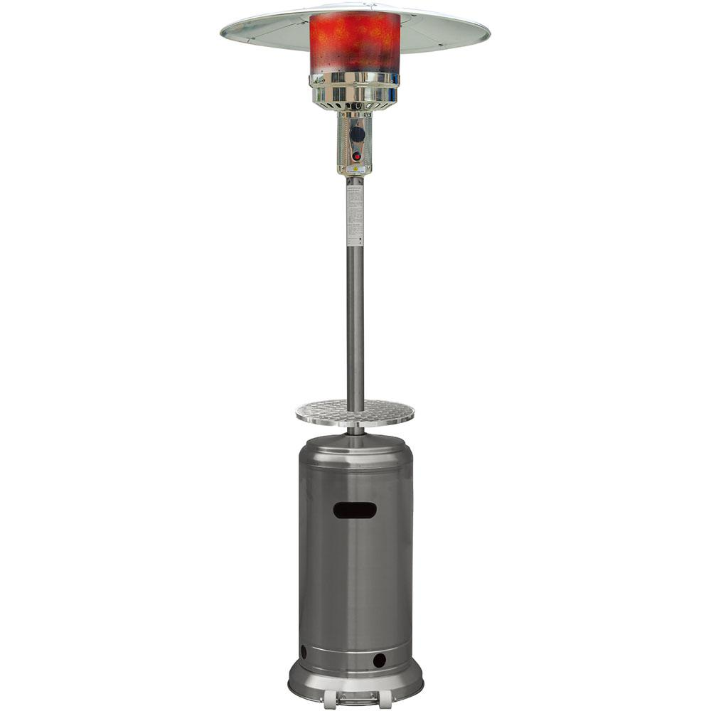 41 000 Btu Stainless Steel Umbrella Propane Gas Patio Heater Han003ss The Home Depot