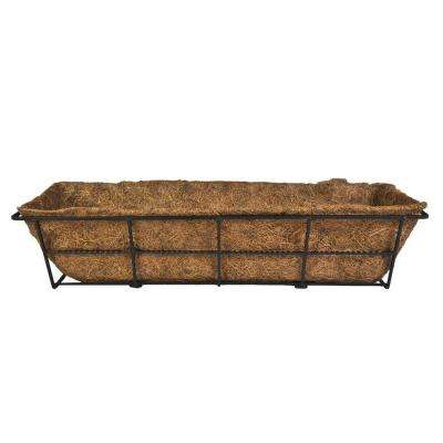 Canterbury 24 in. Steel Deck Rail Planter
