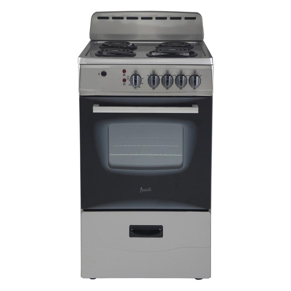 - Avanti 20 In. 2.1 Cu. Ft. Electric Range In Stainless Steel