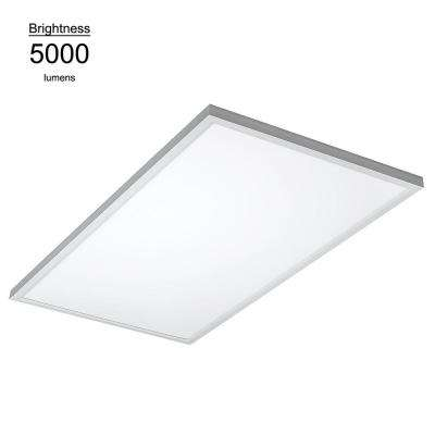 2 ft. x 4 ft. White Commercial Integrated LED 4000K Dimmable Drop Ceiling Flat Panel Troffer Light (2 Pack)