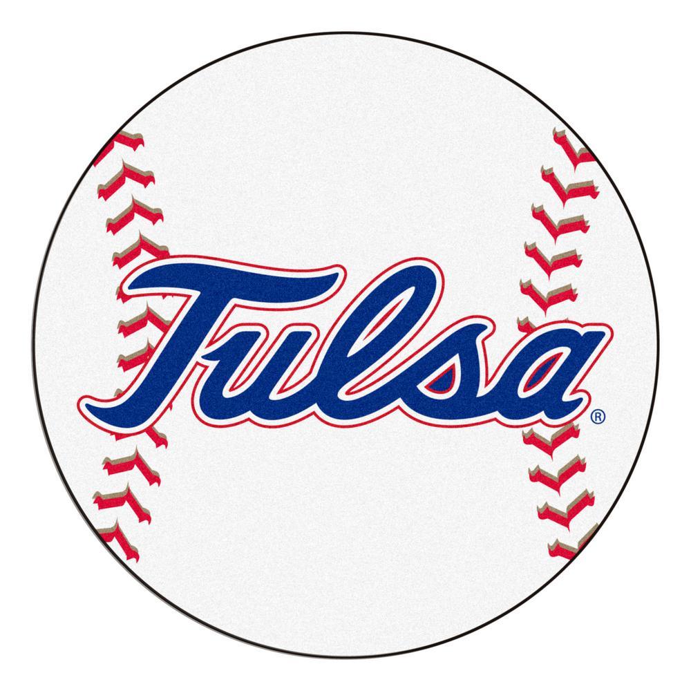 FANMATS NCAA University Of Tulsa 27 In. Round Baseball Mat