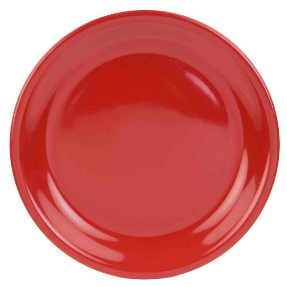 Home Basics Red Dinner Plate CD47184