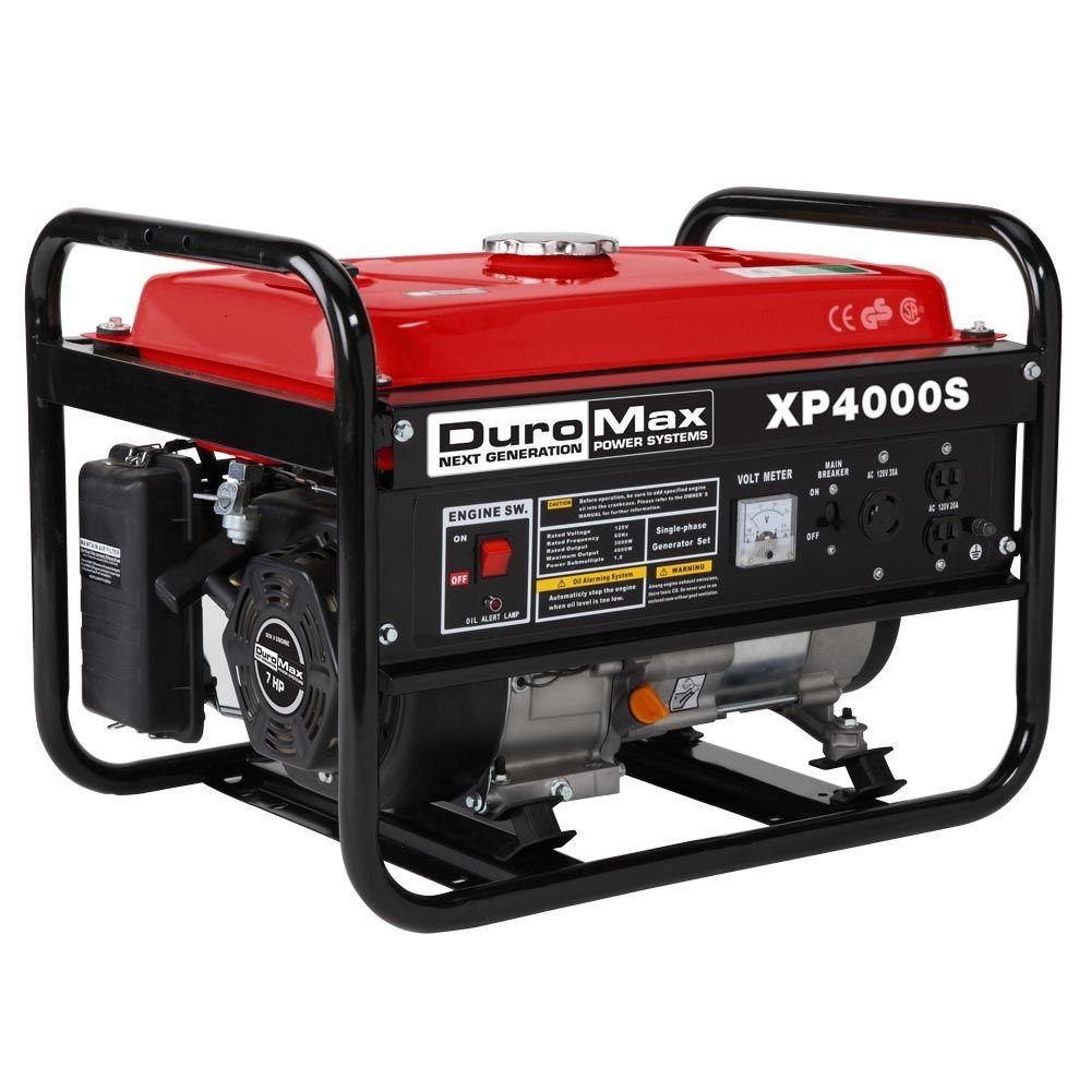Duromax 4,000-Watt Air Cooled OHV Gasoline Powered Portable RV Generator - CARB Approved