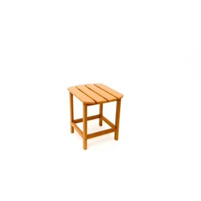 Corona 18 in. Teak Recycled Plastic Outdoor Side Table
