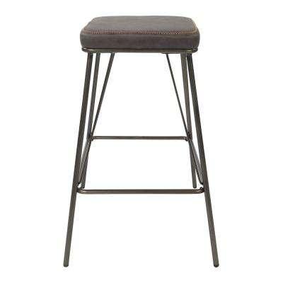 Mayson 26 in. Charcoal with Gunmetal Base Counter Stool (2 per Carton)