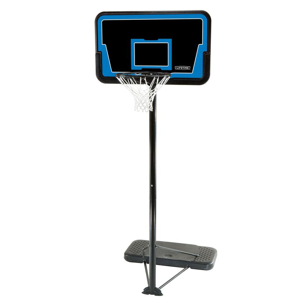 lifetime basketball goal lifetime 44 in streamline basketball system 1268 the 29282