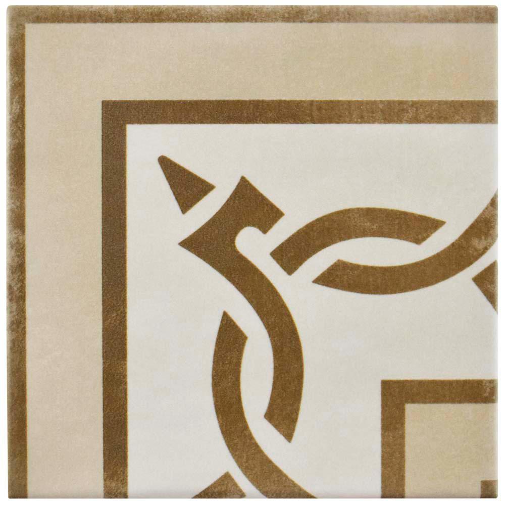 Atelier Tabaco Esquina Encaustic 5-7/8 in. x 5-7/8 in. Ceramic Floor