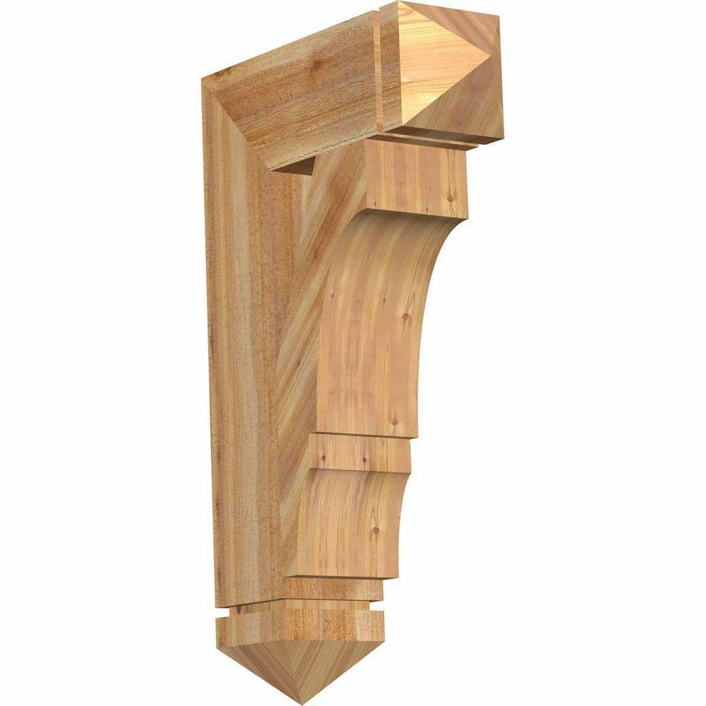 Ekena Millwork 6 In X 32 In X 20 In Western Red Cedar Balboa Arts And Crafts Rough Sawn Bkt06x20x32boa03rwr The Home Depot