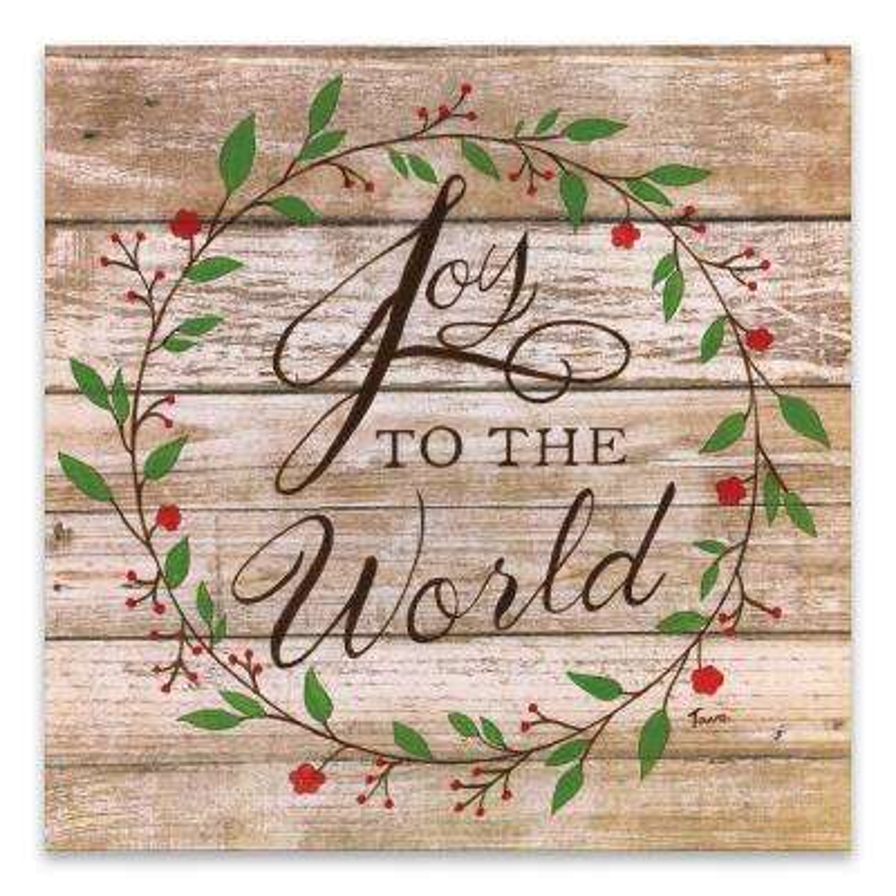 """Joy To The World"" by Tava Studios Printed Canvas Wall Art"