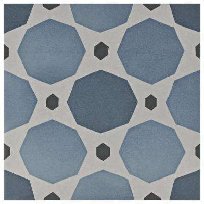 Caprice Colours Sapphire Encaustic 7-7/8 in. x 7-7/8 in. Porcelain Floor and Wall Tile (11.46 sq. ft. / case)